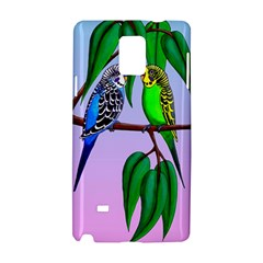 Budgies In The Gum Tree Samsung Galaxy Note 4 Hardshell Case by retz