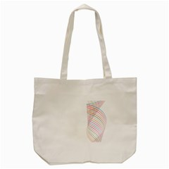 Line Wave Rainbow Tote Bag (cream) by Mariart