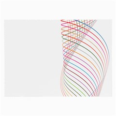 Line Wave Rainbow Large Glasses Cloth (2 Side) by Mariart