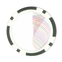 Line Wave Rainbow Poker Chip Card Guard (10 Pack) by Mariart