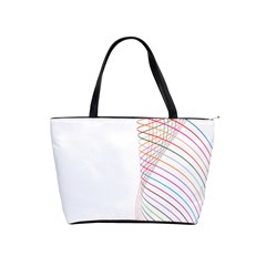 Line Wave Rainbow Shoulder Handbags by Mariart