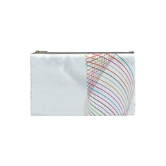 Line Wave Rainbow Cosmetic Bag (small)  by Mariart