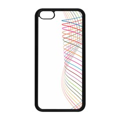 Line Wave Rainbow Apple Iphone 5c Seamless Case (black) by Mariart
