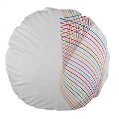 Line Wave Rainbow Large 18  Premium Flano Round Cushions by Mariart