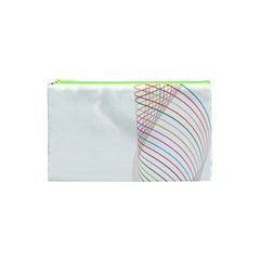 Line Wave Rainbow Cosmetic Bag (xs) by Mariart