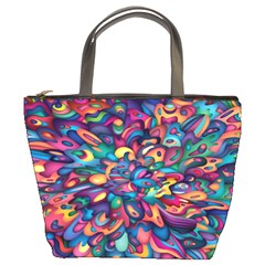 Moreau Rainbow Paint Bucket Bags by Mariart