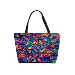 Moreau Rainbow Paint Shoulder Handbags by Mariart