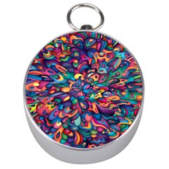 Moreau Rainbow Paint Silver Compasses by Mariart