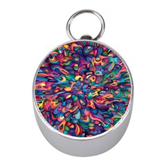 Moreau Rainbow Paint Mini Silver Compasses by Mariart