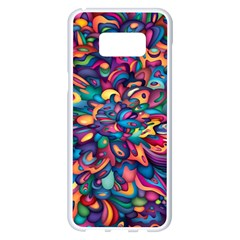 Moreau Rainbow Paint Samsung Galaxy S8 Plus White Seamless Case by Mariart