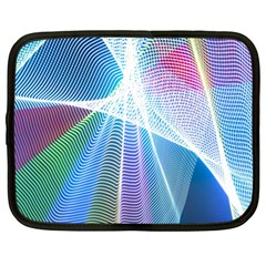 Light Means Net Pink Rainbow Waves Wave Chevron Green Blue Sky Netbook Case (xl)  by Mariart