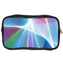 Light Means Net Pink Rainbow Waves Wave Chevron Green Blue Sky Toiletries Bags by Mariart