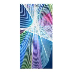 Light Means Net Pink Rainbow Waves Wave Chevron Green Blue Sky Shower Curtain 36  X 72  (stall)  by Mariart