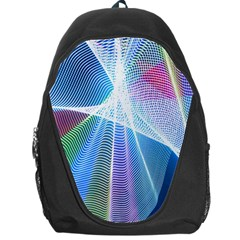 Light Means Net Pink Rainbow Waves Wave Chevron Green Blue Sky Backpack Bag by Mariart