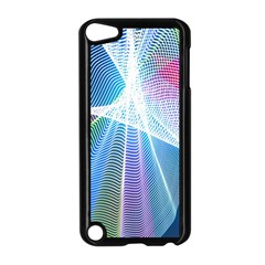 Light Means Net Pink Rainbow Waves Wave Chevron Green Blue Sky Apple Ipod Touch 5 Case (black) by Mariart