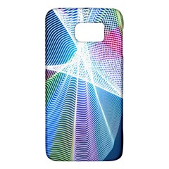 Light Means Net Pink Rainbow Waves Wave Chevron Green Blue Sky Galaxy S6 by Mariart