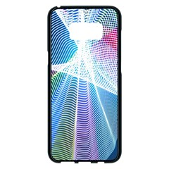 Light Means Net Pink Rainbow Waves Wave Chevron Green Blue Sky Samsung Galaxy S8 Plus Black Seamless Case by Mariart