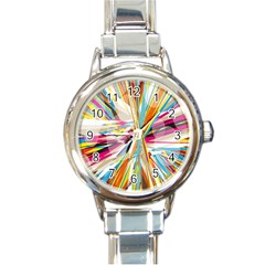 Illustration Material Collection Line Rainbow Polkadot Polka Round Italian Charm Watch