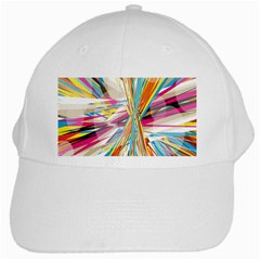 Illustration Material Collection Line Rainbow Polkadot Polka White Cap