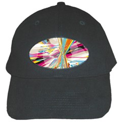 Illustration Material Collection Line Rainbow Polkadot Polka Black Cap