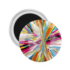 Illustration Material Collection Line Rainbow Polkadot Polka 2.25  Magnets