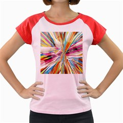 Illustration Material Collection Line Rainbow Polkadot Polka Women s Cap Sleeve T-Shirt