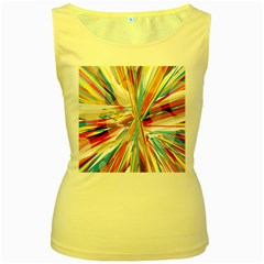 Illustration Material Collection Line Rainbow Polkadot Polka Women s Yellow Tank Top