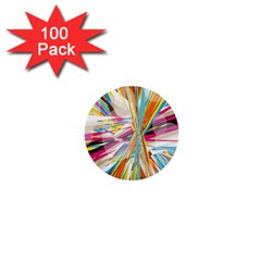 Illustration Material Collection Line Rainbow Polkadot Polka 1  Mini Buttons (100 pack)