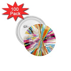 Illustration Material Collection Line Rainbow Polkadot Polka 1.75  Buttons (100 pack)