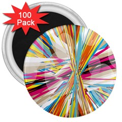 Illustration Material Collection Line Rainbow Polkadot Polka 3  Magnets (100 pack)