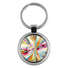 Illustration Material Collection Line Rainbow Polkadot Polka Key Chains (Round)