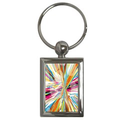 Illustration Material Collection Line Rainbow Polkadot Polka Key Chains (Rectangle)