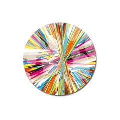 Illustration Material Collection Line Rainbow Polkadot Polka Magnet 3  (Round)