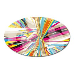 Illustration Material Collection Line Rainbow Polkadot Polka Oval Magnet