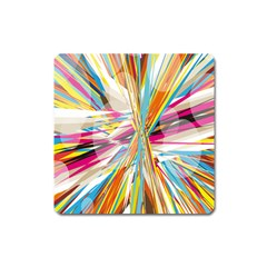 Illustration Material Collection Line Rainbow Polkadot Polka Square Magnet