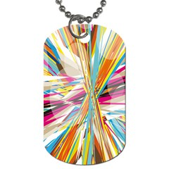 Illustration Material Collection Line Rainbow Polkadot Polka Dog Tag (One Side)