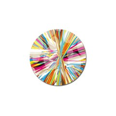 Illustration Material Collection Line Rainbow Polkadot Polka Golf Ball Marker (4 pack)