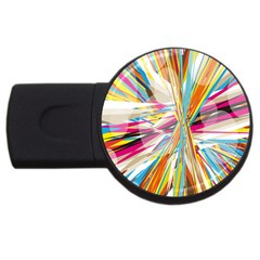 Illustration Material Collection Line Rainbow Polkadot Polka USB Flash Drive Round (2 GB)