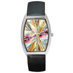 Illustration Material Collection Line Rainbow Polkadot Polka Barrel Style Metal Watch