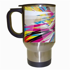 Illustration Material Collection Line Rainbow Polkadot Polka Travel Mugs (White)