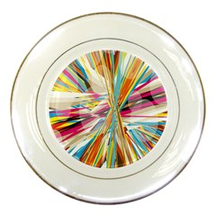 Illustration Material Collection Line Rainbow Polkadot Polka Porcelain Plates