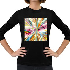 Illustration Material Collection Line Rainbow Polkadot Polka Women s Long Sleeve Dark T-Shirts