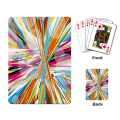 Illustration Material Collection Line Rainbow Polkadot Polka Playing Card