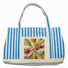 Illustration Material Collection Line Rainbow Polkadot Polka Striped Blue Tote Bag