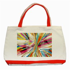 Illustration Material Collection Line Rainbow Polkadot Polka Classic Tote Bag (red) by Mariart