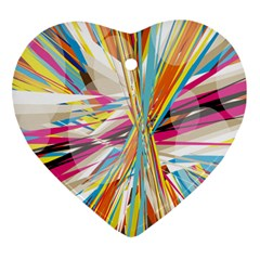 Illustration Material Collection Line Rainbow Polkadot Polka Heart Ornament (Two Sides)
