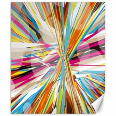 Illustration Material Collection Line Rainbow Polkadot Polka Canvas 8  x 10