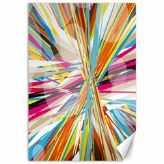 Illustration Material Collection Line Rainbow Polkadot Polka Canvas 12  x 18