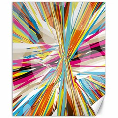 Illustration Material Collection Line Rainbow Polkadot Polka Canvas 16  x 20
