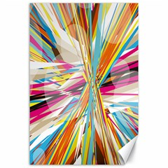 Illustration Material Collection Line Rainbow Polkadot Polka Canvas 24  x 36